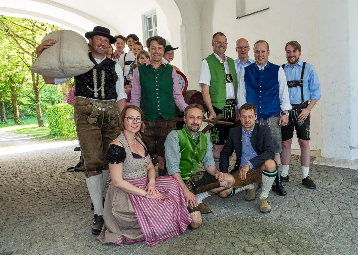Gruppenfoto der Remonte Bräu Schleißheim